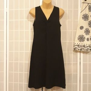EILEEN FISHER Stretch Knit Black Dress Sundress PS